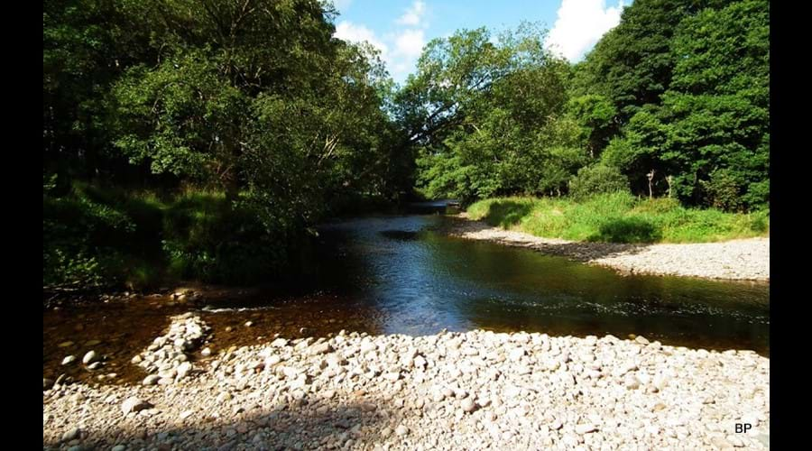 River Nairn 50 metres from the accommodation