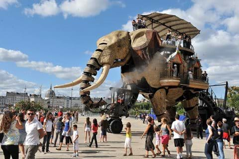 Mechanical elephant at Nantes