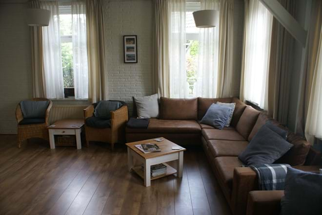 The large sitting room with DVDs, CDs, toys, books & tourist information