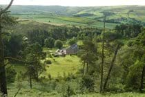 Looking down to the cottage from Hen Cloud