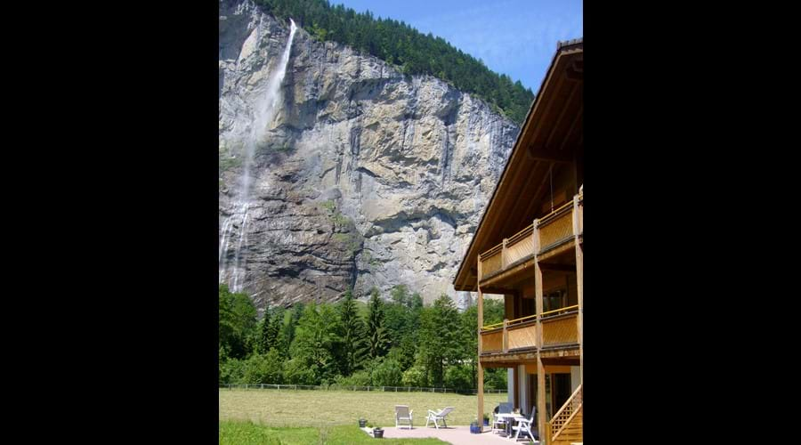 Ground floor apartment overlooking Staubbach Falls