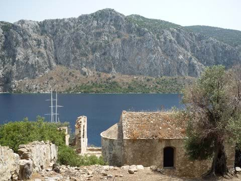 Remains of the old Greek Monastery - can be reached by daily boat trips from Selimiye
