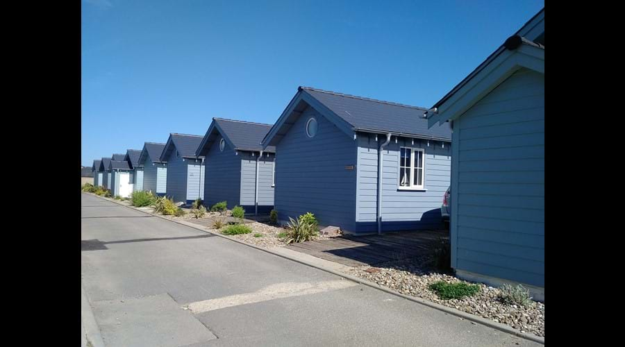 The back of the beach houses.