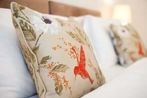 Luxurious silk cushions