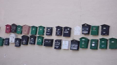 The old Mailboxes in El Puertecico.