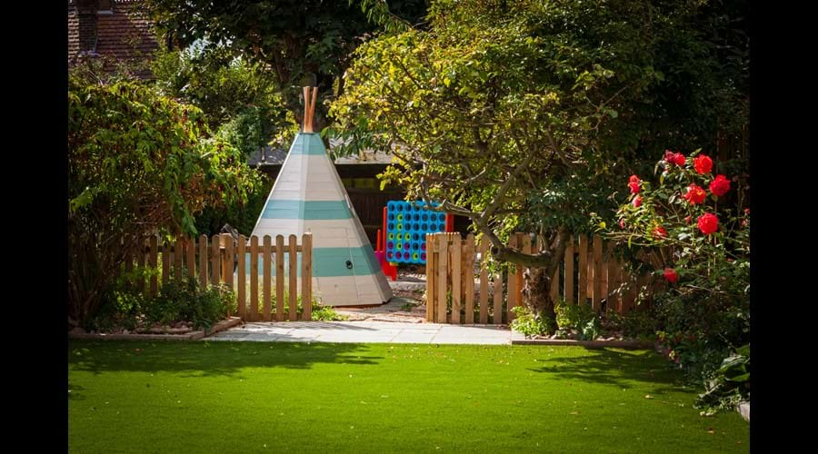 Our wigwam for our younger guests