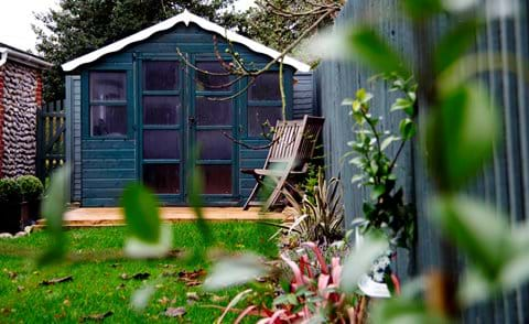 Garden beach hut