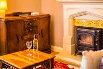 Our electric stove effect fire adds a feeling of warm snuggliness when having a quiet night in!