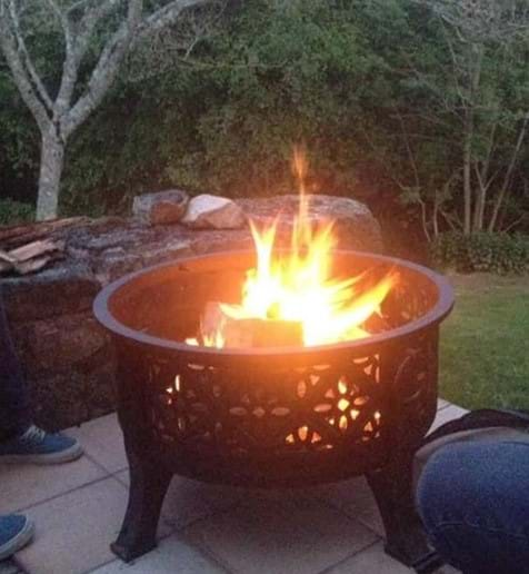 Fire pit - if the land is not too dry