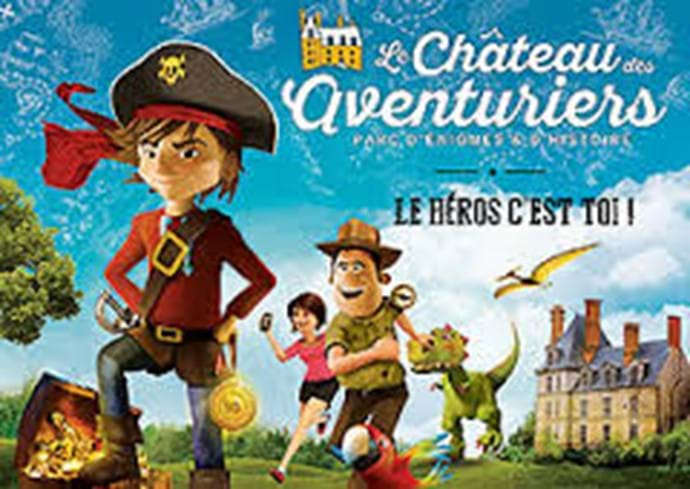 Le Chateau des aventuriers (40 mins from villa) Experience an 'historic adventure' set in the 86 hectare grounds of a beautiful Chateau. From dinosaurs to present time. Fun for all ages! www.chateau-aventuriers.com/en/