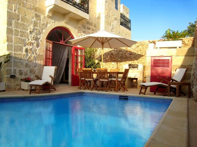 South facing pool and terrace with all day sun