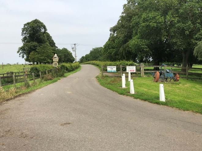 Farm Entrance at Stocken Hall Farm - Moo Cow Cottage self catering