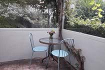 The cottage veranda