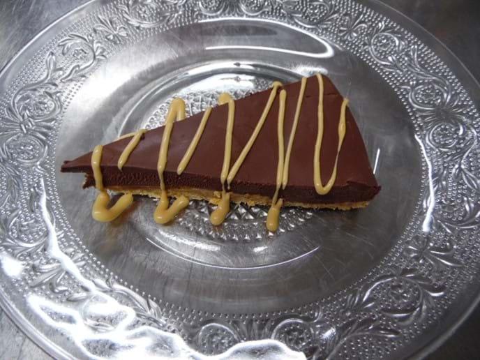 Homemade Salted Chocolate Caramel Torte.