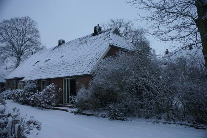 The farmhouse in winter