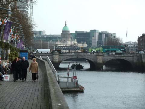 Walk along the LIffey Boardwalk