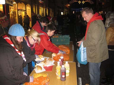 Late Night Christmas Shopping charity stall