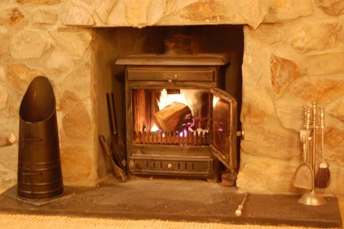 The real fire in the Lounge