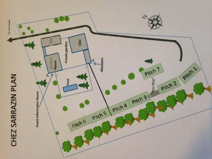 Plan du terrain de camping