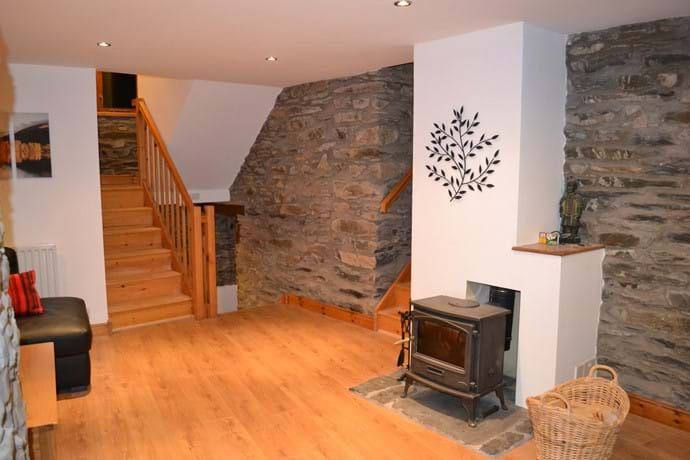 Lounge stairs to Double Bedroom