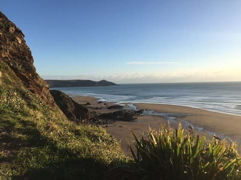 Miles of empty sand at nearby Whitsand Bay