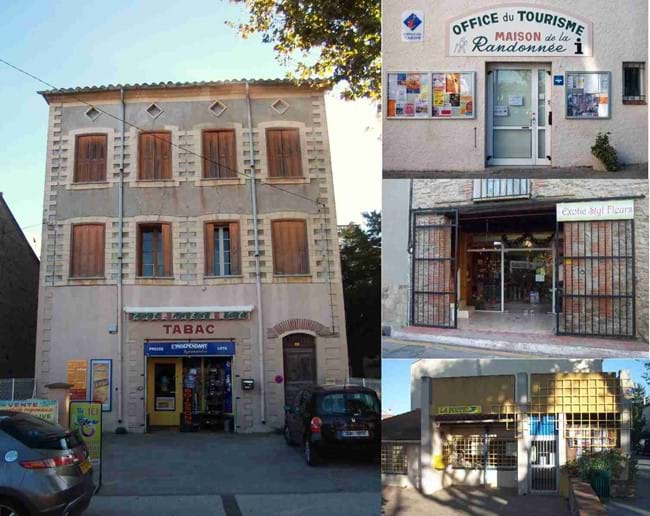 More shops in the village of Laroque des Alberes - The Tabac (newsagent), Tourist Office, Pizzeria (formerly a Flower Shop) and Post Office.