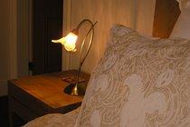 Luxury bedding and lighting