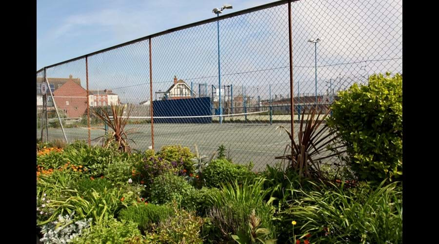 The tennis courts and football facilities in Sutton on Sea
