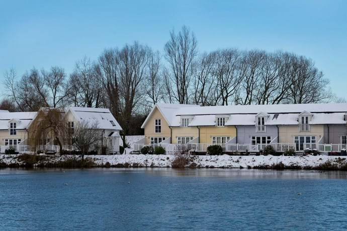Elm Lodge in the snow