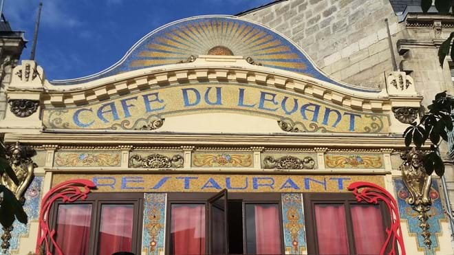 Art Nouveau restaurant opposite railway station in Bordeaux