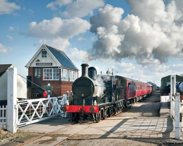 Lincolnshire Wolds Steam Railway approx 6 miles from Muntjac