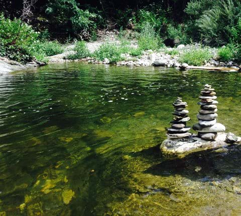 Walking wildlife France holiday river bathing cevennes