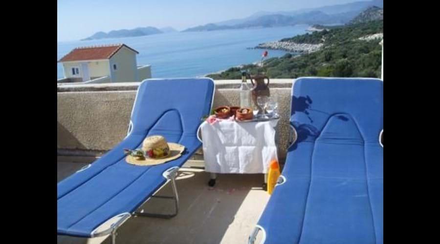 Top floor terrace with stunning views