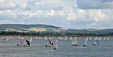 A busy racing day on Chichester Harbour.