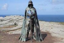 King Arthur of Tintagel 25 minutes drive away