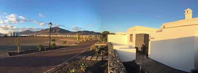 Mountain views from the front of Villa Astra