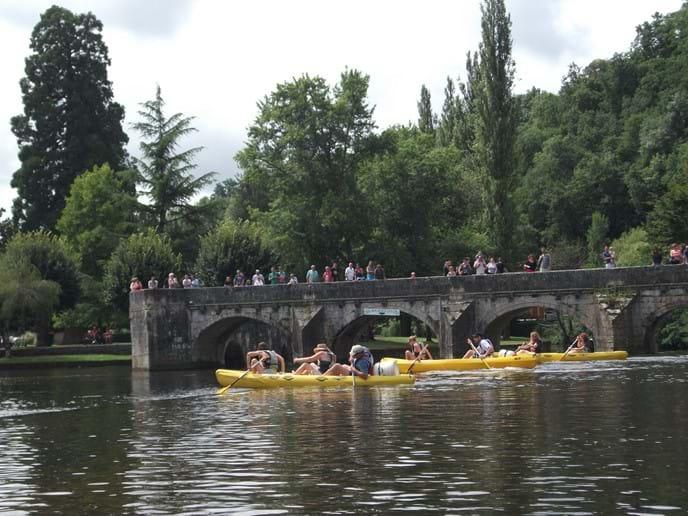 Canoeing around the town