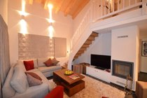 Sofas for 8 and a Stuv wood burning fireplace