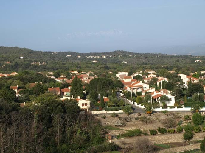View from the Tower of part of the modern village (including our house)