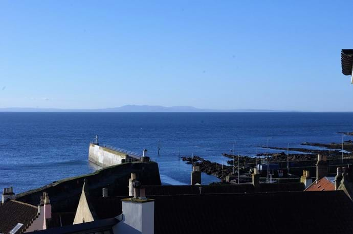 Pittenweem harbour from balcony of Kittiwake apartment