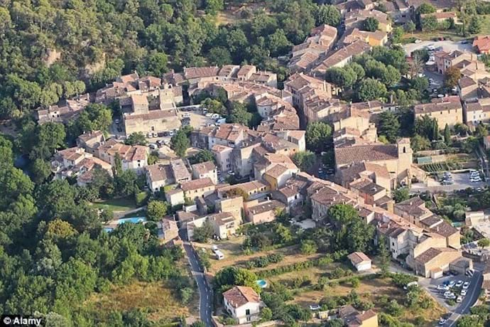 Aerial view of Correns Village