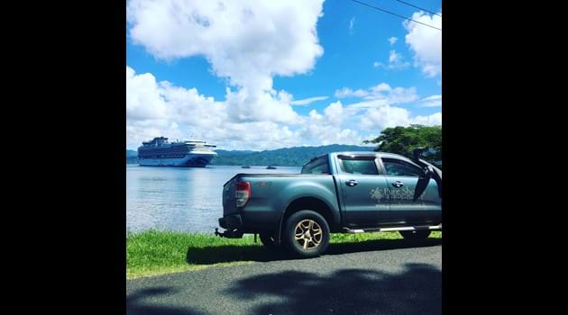 Cruise ships visit Savusavu Town, several times a year.