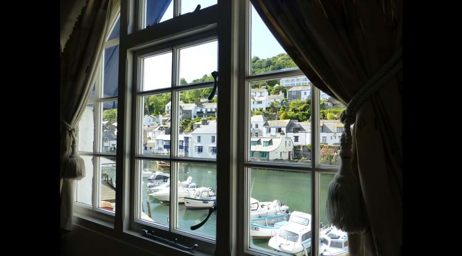 Sit in the Living Room window seat and watch the boats