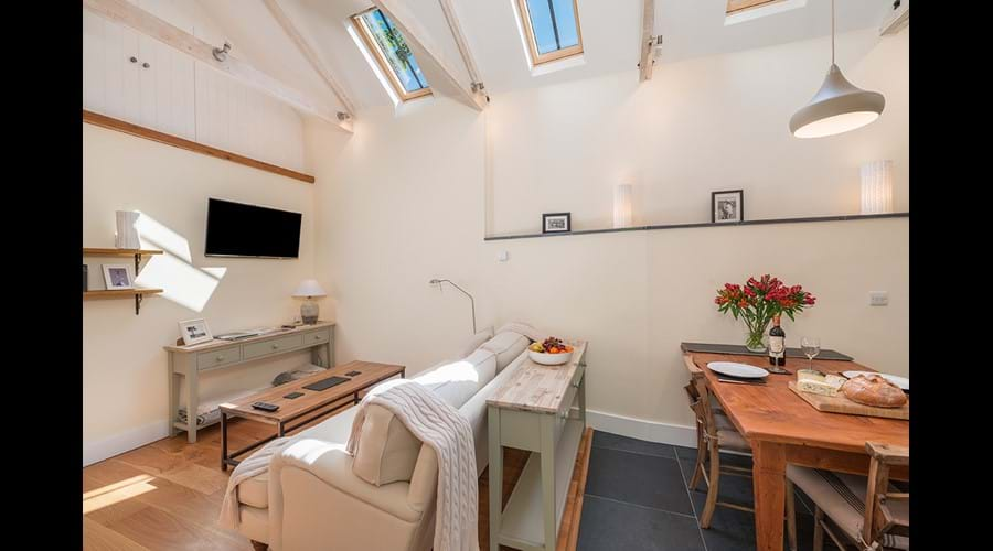Internal view of Huckworthy luxury self-catering holiday cottage in Devon