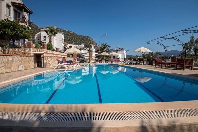 The pool is huge!