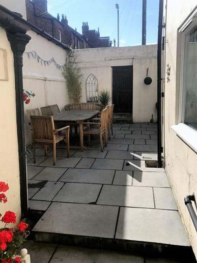 Patio garden - perfect for morning coffee or a barbecue