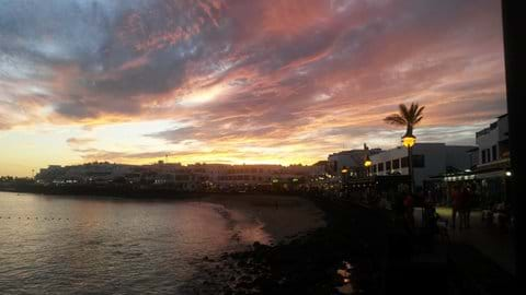 Playa Blanca sunset
