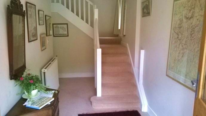 Light, welcoming hallway