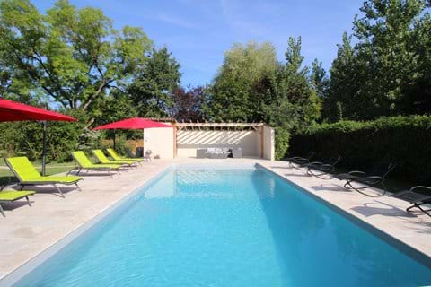 Stunning 11 x 5m heated pool with large terrace and plenty of loungers