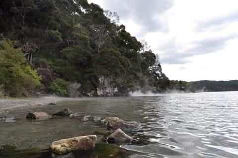 Hot Water Beach at Lake Tarawera